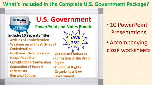 U.S. Government PowerPoint and Notes Bundle