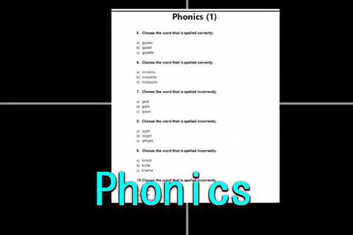 Phonics Worksheets | Syllables & Initial Sounds | ELA Assessments by Standard