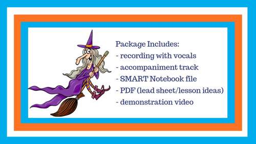 Halloween Song | Witch Activity | Includes mp3s, Music, Lessons, SMART & Video