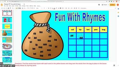 Fun with Dr. Seuss - Digital (Google Classroom, Smart Board, interactive board)