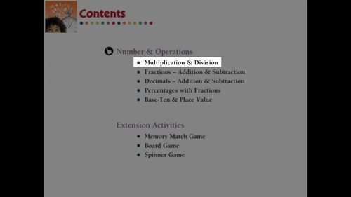 Number & Operations: Multiplication & Division - Learn the Skill - MAC Gr. 3-5