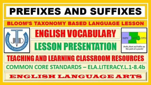 AFFIXES AND ROOTS: READY TO USE LESSON PRESENTATION