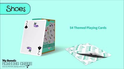 Shoes Themed Playing Cards Deck
