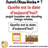 """7 French Class Transition Video """"Today's Date """" for CI TCI"""
