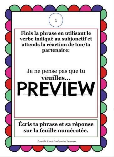 French subjunctive sentence starters - Subjunctive sentence stems
