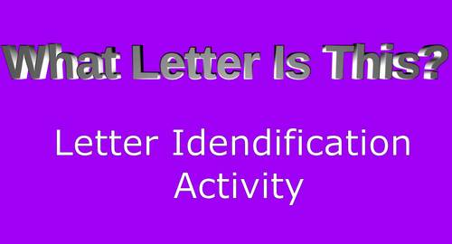 What Letter is This?  Letter Identification R,Y,U