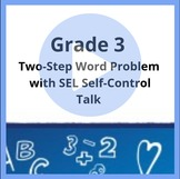 3rd Grade Distance Learning Math and SEL Self-Control Talk