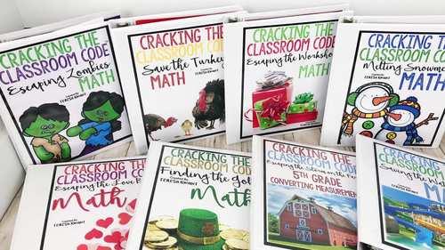 Escape Room 3rd Grade Math Seasonal Bundle | Distance Learning