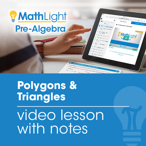 Polygons & Triangles Video Lesson w/Student Notes   Good for Distance Learnining