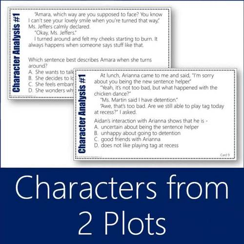 Character Analysis Task Cards 1 (Grades 3-5)