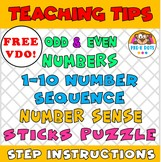 Number Sequence Sticks Puzzle FREE Teaching Tips  VDO