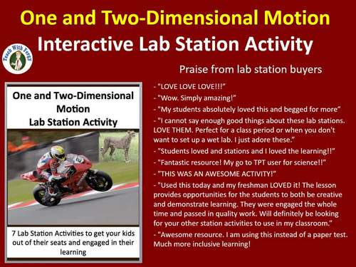 One and Two-Dimensional Motion - 7 Engaging Lab Stations