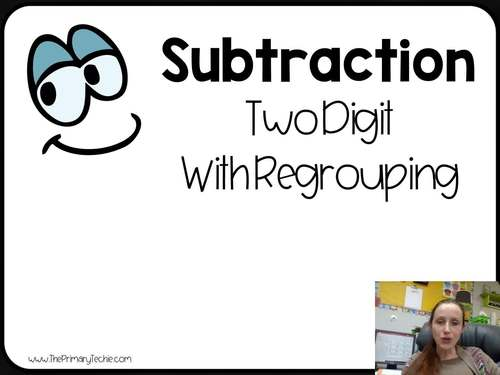 7 Minute Whiteboard Videos - Two Digit Subtraction WITH Regrouping