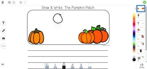Seesaw Draw and Write- October
