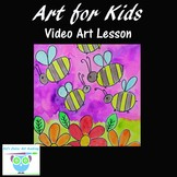 Video Art Lesson: Learn to Draw and Watercolor Paint Garden Bees