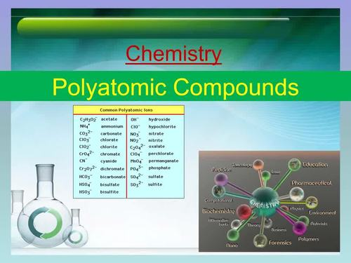 Polyatomic Compounds Introductory - Chemistry PowerPoint Lesson & Student Notes
