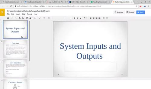 System Inputs and Outputs PowerPoint