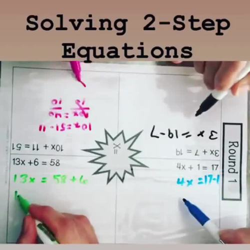 Solving 2-Step Equations: One Thing In Common