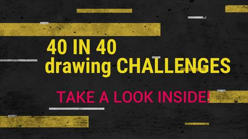 Adult Coloring with 40 Drawing Challenges for big kids, teens and teachers