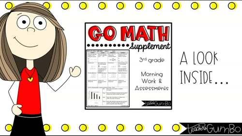 Go Math Morning Work Supplement
