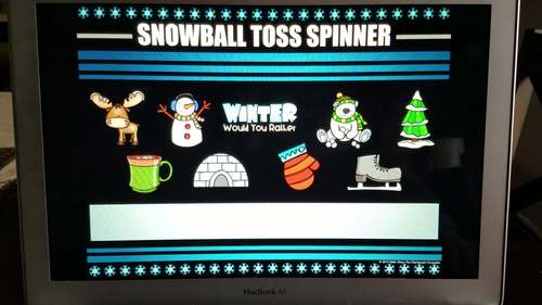 Snowball Toss Icebreaker Activities: Game Board and PowerPoint Spinner