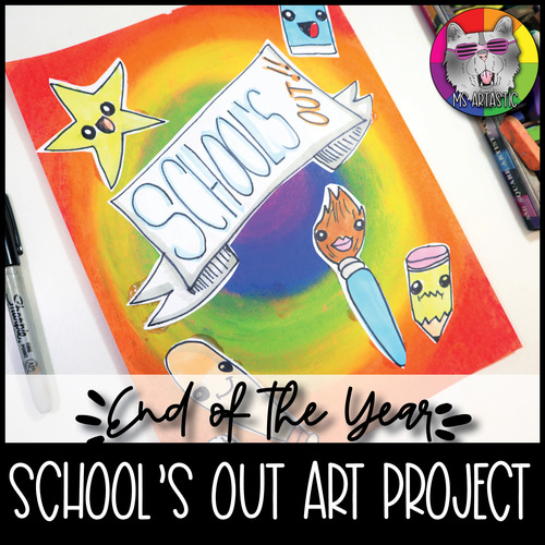End of Year Art Lesson, School's Out Art Project