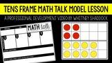 Math Talks Model VIDEO Lesson on Ten Frames
