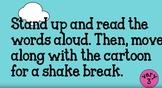 Fry Words Set 2  Move and Shake Brain Break Video