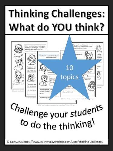 Thinking Challenges : What do you think?