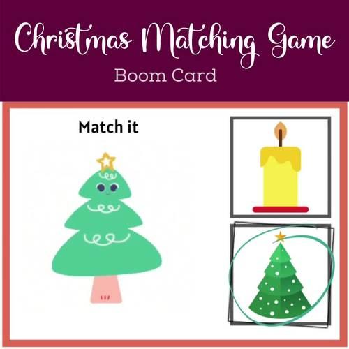Animated Christmas Matching Game Boom Cards By Disha Digital School