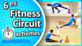 6 Free Fitness Circuit activities (Grades K-8)