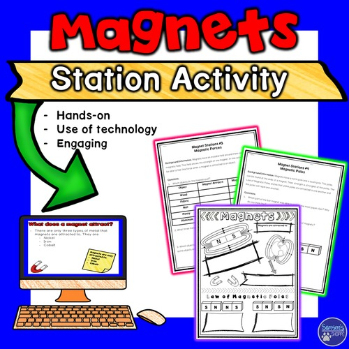 photo relating to Printable Magnets called Magnets Flipped for Google Clroom Fingers-upon Stations and Printable Functions