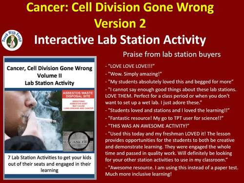 Cancer: Cell Division Gone Wrong  Volume II - 7 Engaging Lab Stations