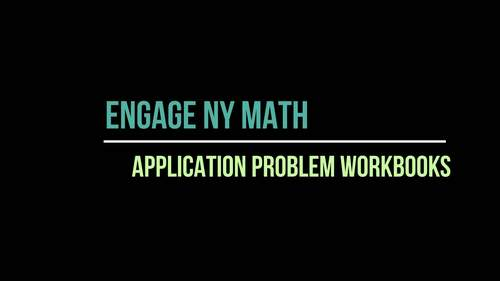 Application Problem Workbooks EngageNY Math / Eureka Math 2nd Grade ENTIRE YEAR!