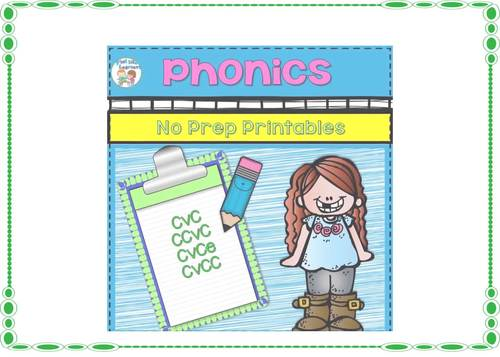 Phonics Worksheets for K and 1 No Prep