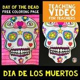 FREE Day of the Dead / Dia de los Muertos Coloring Page