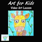Video Art Lesson: Learn to Draw and Watercolor Paint a Giraffe