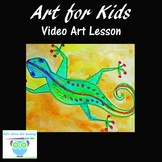 Video Art Lesson: Learn to Draw and Watercolor Paint a Lizard