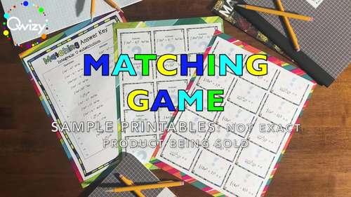 Long Division Matching Game