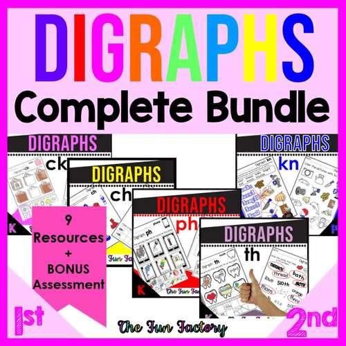 Distant Learning Digraph Activities BUNDLE | CH CK KN PH SH TH WH WR