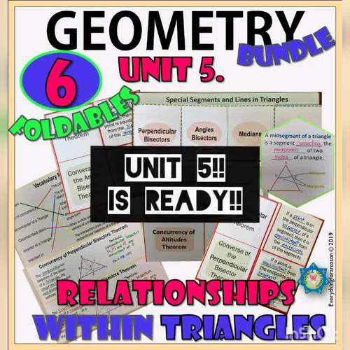 GEOMETRY FOLDABLES For Interactive Notebooks - All Year- Super Bundle