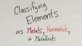 Classifying Elements as Metals, Nonmetals, & Metalloids VI
