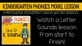 Kindergarten Phonics Curriculum Model Lesson Video on Lett