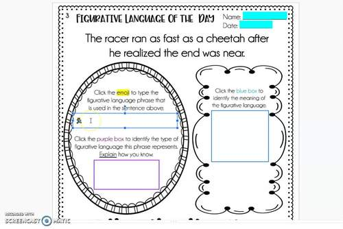 Figurative Language Review Activities *with Google Slides™ Distance Learning
