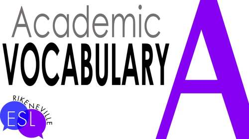 Academic Vocabulary 8 with Activities and Worksheets