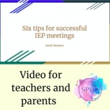 Video: Six tips for successful IEP meetings (professional
