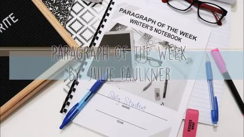 Paragraph of the Week Prompts, HS BUNDLE, Traditional & Distance Learning