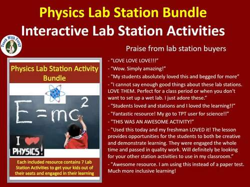 Physical Science Lab Station Activity Bundle - Engaging, Hands-on Activities