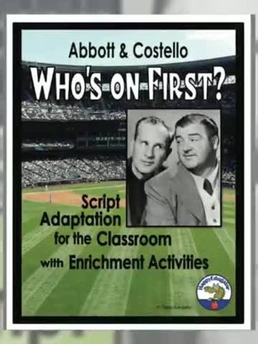 photo about Whos on First Script Printable titled Drama - Abbott and Costello Whos upon 1st? Script by means of