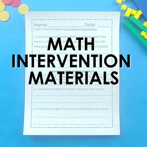 3rd Grade Math Intervention MEASUREMENT AND DATA Guided Math DISTANCE LEARNING